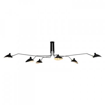Потолочная люстра с регулировкой направления света Lussole Loft Fairbanks LSP-9562, IP21, 6xE14x40W, черный, металл