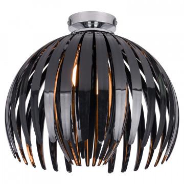 Потолочный светильник Lussole LGO Hockessin LSP-9536, IP21, 1xE14x40W, хром, черный, металл, пластик