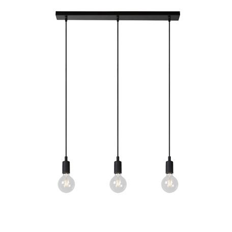 Подвесной светильник Lucide Fix 08408/03/30, 3xE27x5W, черный, металл