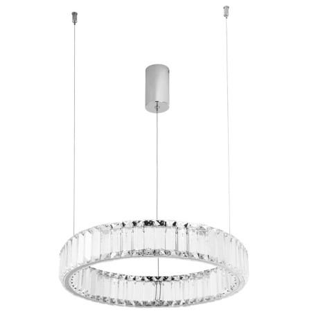 Подвесной светодиодный светильник Divinare Renata 1135/02 SP-24, LED 22W 4000K 1880lm, хром, прозрачный, металл, хрусталь