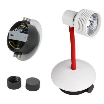 Модульная система Lussole Loft Bay Shore LSP-9818-05, IP21, 5xGU10x50W, белый, красный, металл - миниатюра 2