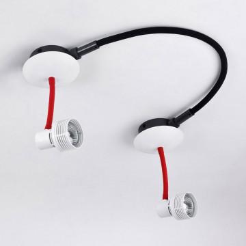 Модульная система Lussole Loft Bay Shore LSP-9818-02, IP21, 2xGU10x50W, белый, красный, металл
