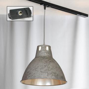 Подвесной светильник для шинной системы Lussole Loft Huntsville LSP-9503-TAB, IP21, 1xE27x60W, серый, металл