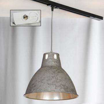 Подвесной светильник для шинной системы Lussole Loft Huntsville LSP-9503-TAW, IP21, 1xE27x60W, серый, металл