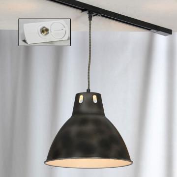 Подвесной светильник для шинной системы Lussole Loft Huntsville LSP-9504-TAW, IP21, 1xE27x60W, черный, металл
