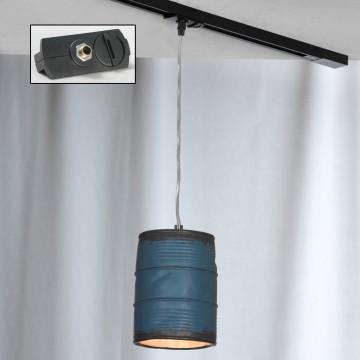 Подвесной светильник для шинной системы Lussole Loft Northport LSP-9525-TAB, IP21, 1xE27x40W, никель, синий, металл, керамика