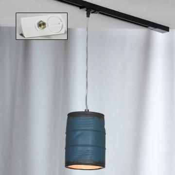 Подвесной светильник для шинной системы Lussole Loft Northport LSP-9525-TAW, IP21, 1xE27x40W, никель, синий, металл, керамика