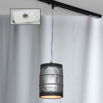 Подвесной светильник для шинной системы Lussole Loft Northport LSP-9526-TAW, IP21, 1xE27x40W, никель, серый, металл, керамика