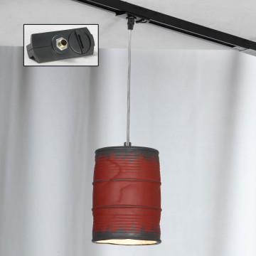 Подвесной светильник для шинной системы Lussole Loft Northport LSP-9527-TAB, IP21, 1xE27x40W, никель, красный, металл, керамика