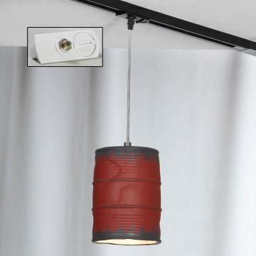 Подвесной светильник для шинной системы Lussole Loft Northport LSP-9527-TAW, IP21, 1xE27x40W, никель, красный, металл, керамика