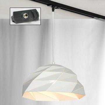 Подвесной светильник для шинной системы Lussole Loft Hoover LSP-9531-TAB, IP21, 1xE27x60W, белый, металл