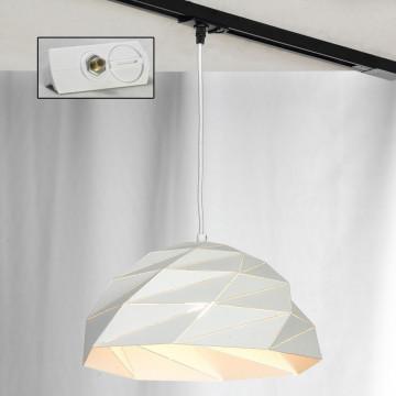 Подвесной светильник для шинной системы Lussole Loft Hoover LSP-9531-TAW, IP21, 1xE27x60W, белый, металл