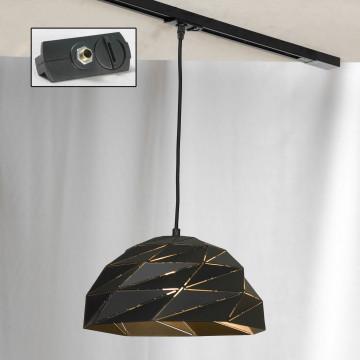 Подвесной светильник для шинной системы Lussole Loft Hoover LSP-9532-TAB, IP21, 1xE27x60W, черный, металл