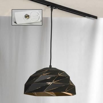 Подвесной светильник для шинной системы Lussole Loft Hoover LSP-9532-TAW, IP21, 1xE27x60W, черный, металл