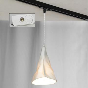 Подвесной светильник для шинной системы Lussole Loft Copiague LSP-9657-TAW, IP21, 1xE14x40W, белый, металл, керамика