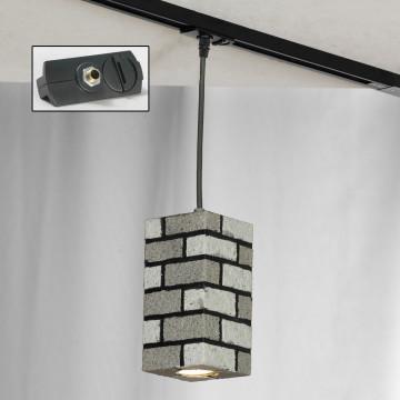 Подвесной светильник для шинной системы Lussole Loft Mount Vernon LSP-9684-TAB, IP21, 1xGU10x50W, серый, металл