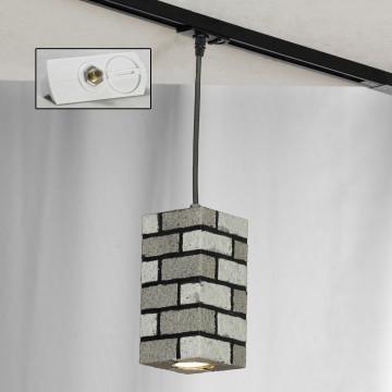 Подвесной светильник для шинной системы Lussole Loft Mount Vernon LSP-9684-TAW, IP21, 1xGU10x50W, серый, металл