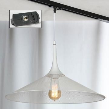 Подвесной светильник для шинной системы Lussole Loft Cheektowaga LSP-9812-TAB, IP21, 1xE27x60W, белый, металл