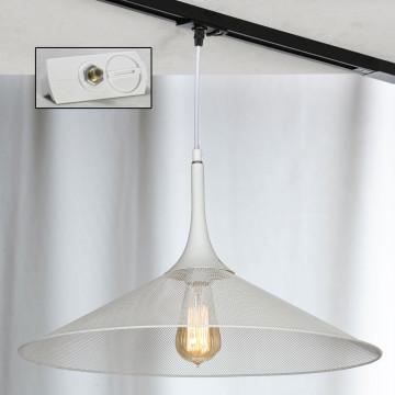 Подвесной светильник для шинной системы Lussole Loft Cheektowaga LSP-9812-TAW, IP21, 1xE27x60W, белый, металл