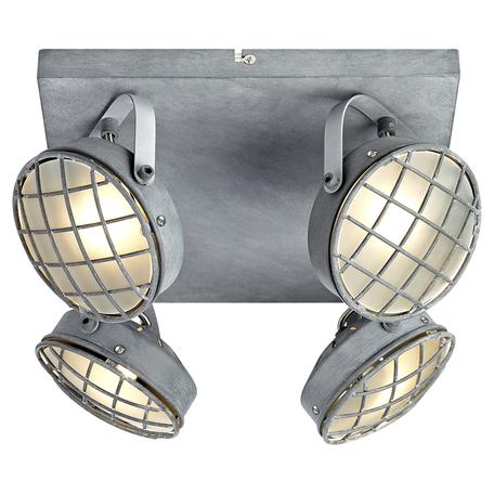 Потолочная люстра с регулировкой направления света Lussole Loft Lakewood LSP-9981, IP21, 4xG9x40W, серый, металл