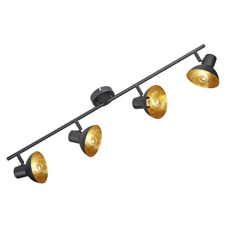 Потолочный светильник с регулировкой направления света Lussole Loft Louisville LSP-9976, IP21, 4xE14x40W, черный, металл