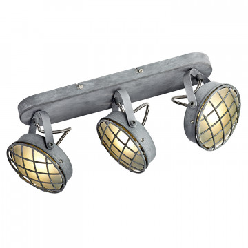 Потолочный светильник с регулировкой направления света Lussole Loft Lakewood LSP-9980, IP21, 3xG9x40W, серый, металл
