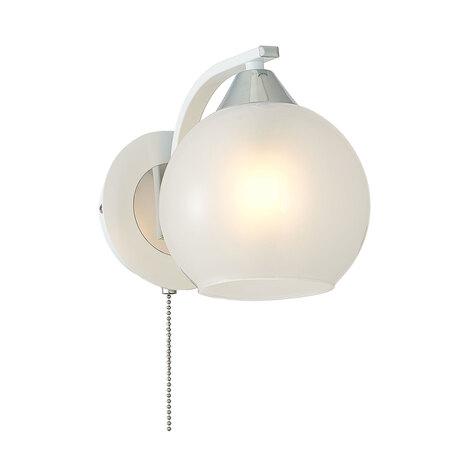 Бра Citilux Отто CL121310, 1xE27x75W, белый, металл, стекло