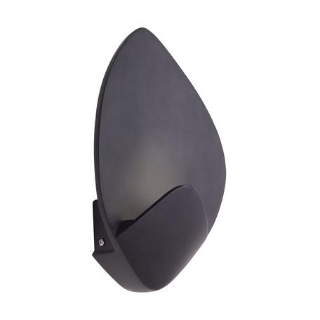 Настенный светодиодный светильник Favourite Borges 2563-1W, LED 8W 4000K 640lm, черный, металл