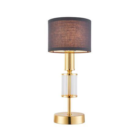 Настольная лампа Favourite Laciness 2609-1T, 1xE14x40W, золото, серый, металл со стеклом, текстиль