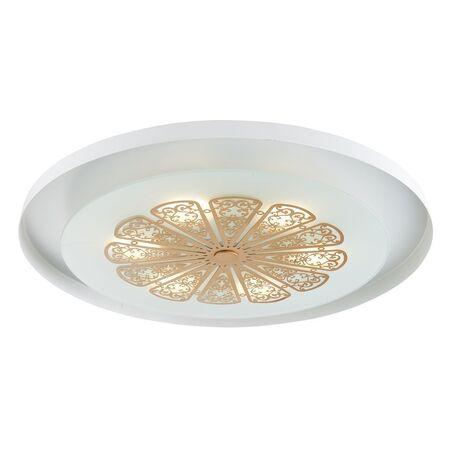 Потолочный светодиодный светильник Favourite Incarnatio 2602-5C, LED 24W 3000K 738lm, белый, матовое золото, металл, металл со стеклом