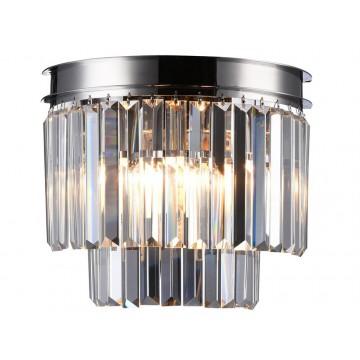 Бра Newport 31100 31101/A nickel (М0055022), 2xE14x60W, никель, прозрачный, металл, хрусталь