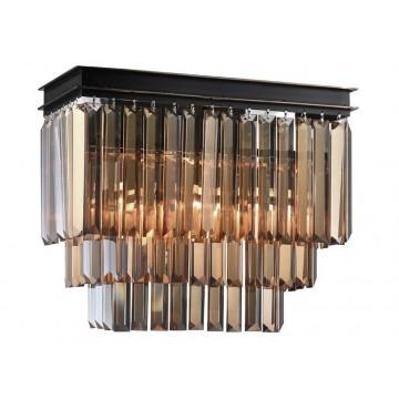 Бра Newport 31100 31102/A black+gold (М0055010), 2xE14x60W, черный, прозрачный, металл, хрусталь