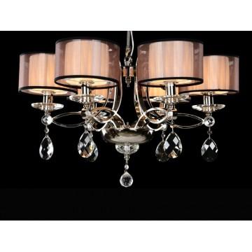 Основание подвесной люстры Newport 1600 1606/C без абажуров (М0055953), 6xE14x60W, никель, прозрачный, металл, хрусталь