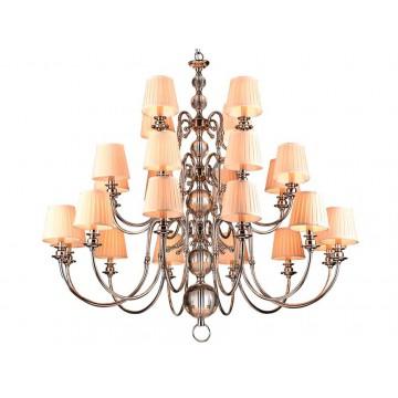 Основание подвесной люстры Newport 3100 31010+12/C без абажуров (М0053195), 24xE14x60W, прозрачный, хром, металл, стекло
