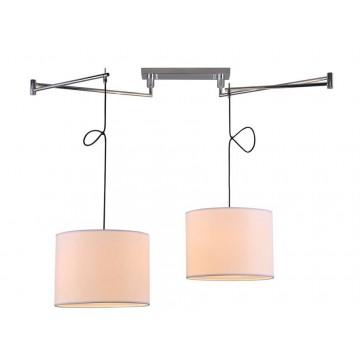Подвесной светильник Newport 14000 14302/S white (М0052657), 2xE27x60W, хром, белый, металл, текстиль