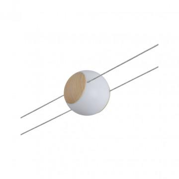 Светодиодный светильник для тросовой системы Paulmann Lynn 94158, LED 4,5W, белый, коричневый, пластик