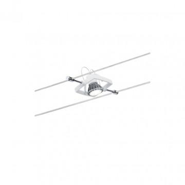 Светильник с регулировкой направления света для тросовой системы Paulmann Spot Mac ll 94148, 1xGU5.3x10W, белый, металл, пластик