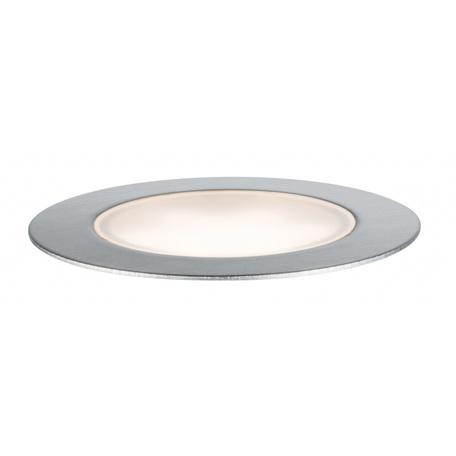 Встраиваемый в уличное покрытие светодиодный светильник Paulmann Plug & Shine Floor Set 93693, IP65, LED 1,3W, серебро, металл