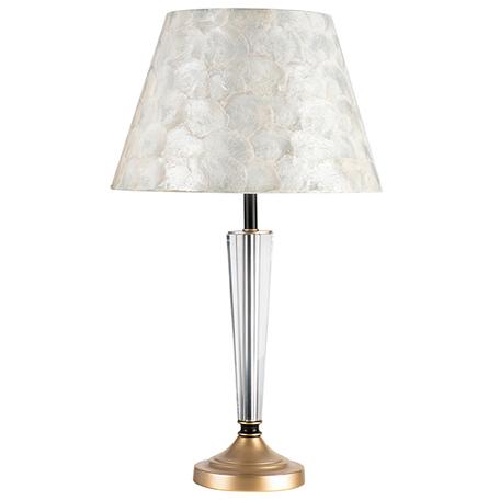 Настольная лампа Lightstar Perla 707911, 1xE14x40W, черный, бежевый, металл со стеклом, ракушки