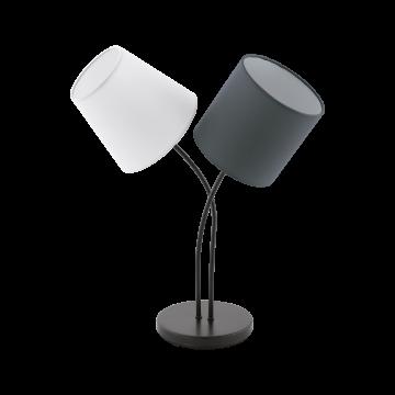 Настольная лампа Eglo Almeida 95194, 2xE14x40W, черный, серый, металл, текстиль
