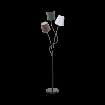 Торшер Eglo Maronda 94995, 3xE14x40W, черный, серый, коричневый, металл, текстиль