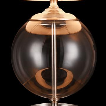 Настольная лампа Maytoni Lowell Z533TL-01N, 1xE27x40W, никель с прозрачным, прозрачный с никелем, бежевый, стекло с металлом, текстиль - миниатюра 8