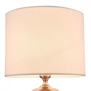 Настольная лампа Maytoni Lowell Z533TL-01N, 1xE27x40W, никель с прозрачным, прозрачный с никелем, бежевый, стекло с металлом, текстиль - миниатюра 9