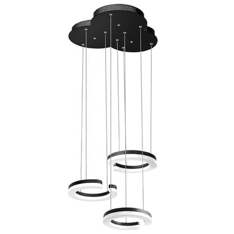 Светодиодная люстра-каскад Lightstar Unitario 763337, IP40, LED 34,5W 3000K 3795lm, черный, черно-белый, металл, пластик