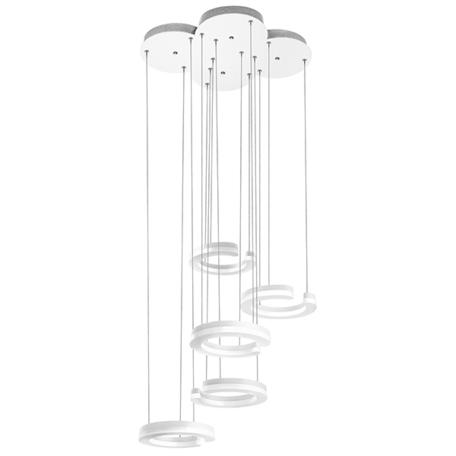 Светодиодная люстра-каскад Lightstar Unitario 763436, IP40, LED 46W 3000K 5060lm, белый, металл, пластик