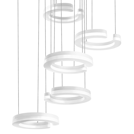 Светодиодная люстра-каскад Lightstar Unitario 763446, IP40, LED 46W 4000K 5060lm, белый, металл, пластик