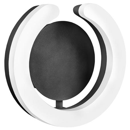 Настенный светодиодный светильник Lightstar Unitario 763637, IP40, LED 9,2W 3000K 1012lm, черный, белый, металл, пластик