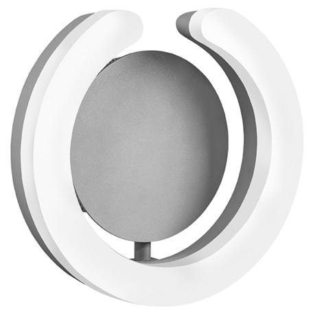 Настенный светодиодный светильник Lightstar Unitario 763639, IP40, LED 9,2W 3000K 1012lm, серебро, белый, металл, пластик