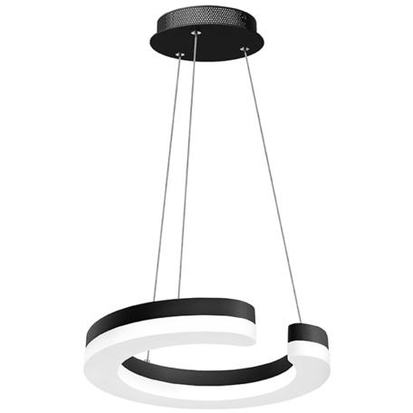 Подвесной светодиодный светильник Lightstar Unitario 763137, IP40, LED 11,5W 3000K 1265lm, черный, черно-белый, металл, металл с пластиком