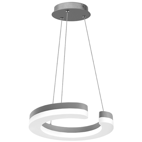 Подвесной светодиодный светильник Lightstar Unitario 763149, IP40, LED 11,5W 4000K 1265lm, серебро, белый, металл, металл с пластиком